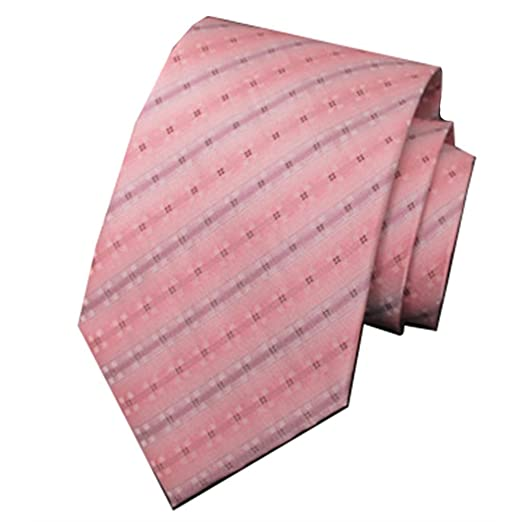 Y-WEIFENG Corbata Formal de Seda de Seda con Lazo de Color Rosa ...