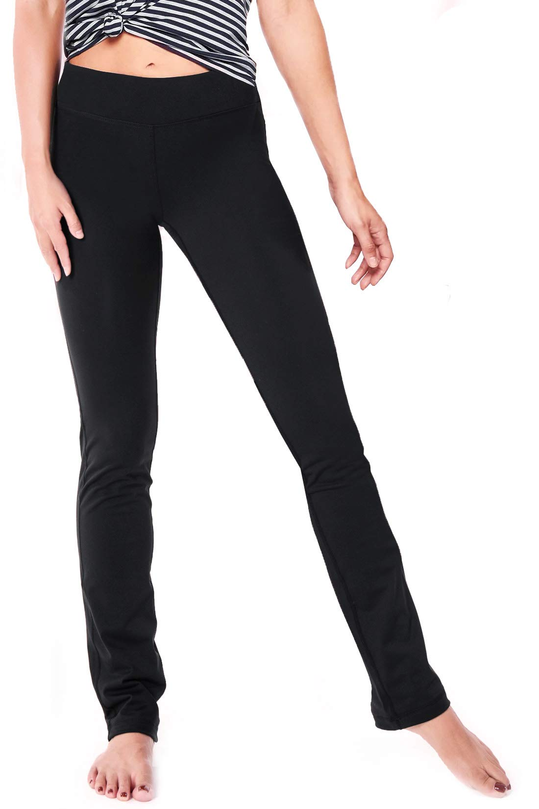 Yogipace Petite Women's 29'' inseam Straight Leg Yoga Pants Slim Fit Workout Pants Size M Black