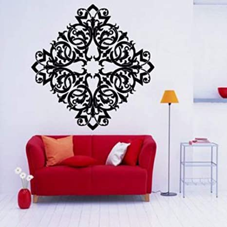 Patrón de Ornamento Floral Pegatinas de Pared para Sala de ...