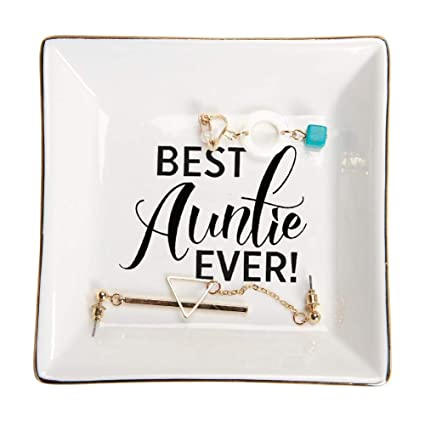 Amazon HOME SMILE Aunt Gifts Trinket Dish Best Auntie EverBirthday For From Nephew Home Kitchen