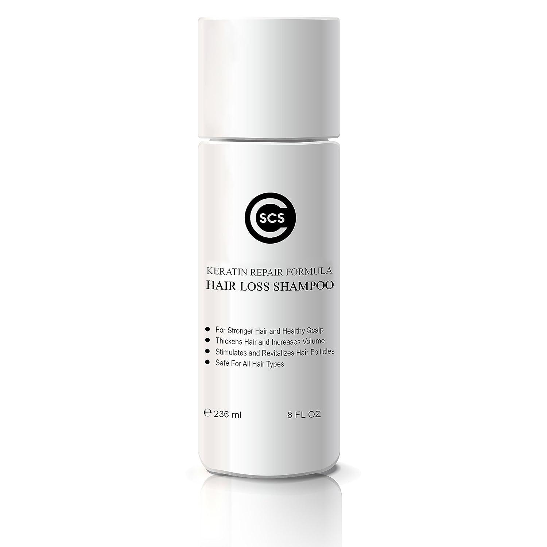 CSCS Hair Loss Shampoo — Keratin Repair Formula — Stimulates Hair Follicles — Stronger, Thicker Hair — Safe for All Hair Types