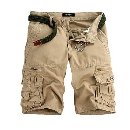 GreatestPAK Pants Pure Color Shorts Herren Outdoor Taschen Strand Arbeit Hosen Cargo Pant