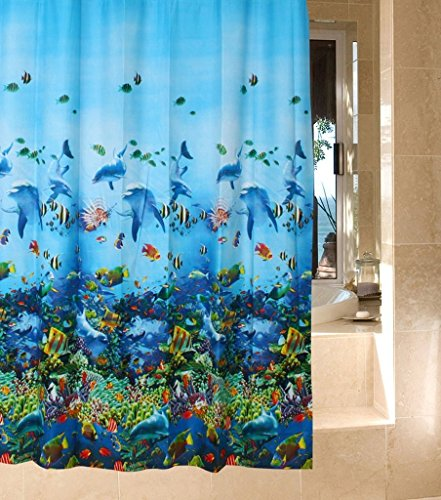Fish Shower Curtains | Kritters in the Mailbox | Fish Shower Curtain
