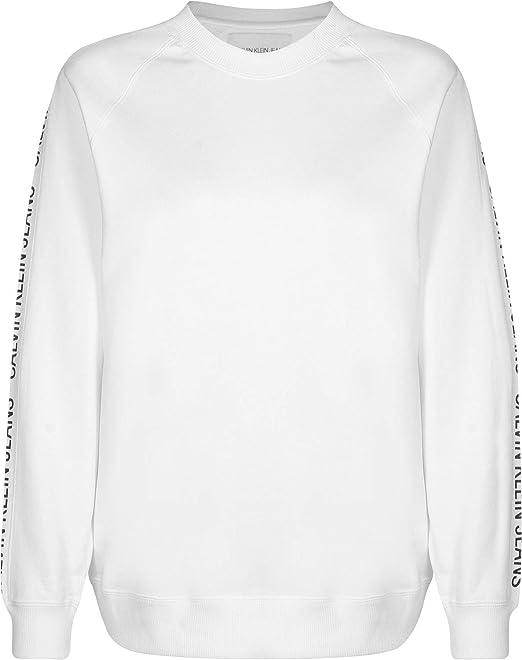 Calvin Klein Sudadera INSS Track Blanco Mujer: Amazon.es: Ropa y accesorios