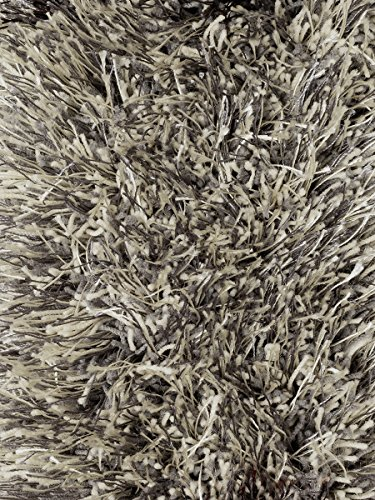 Central Oriental Polyester - Central Oriental Atlas Collection 100-Percent Polyester Rug, 5-Feet by 7-Feet, Grey/Gold