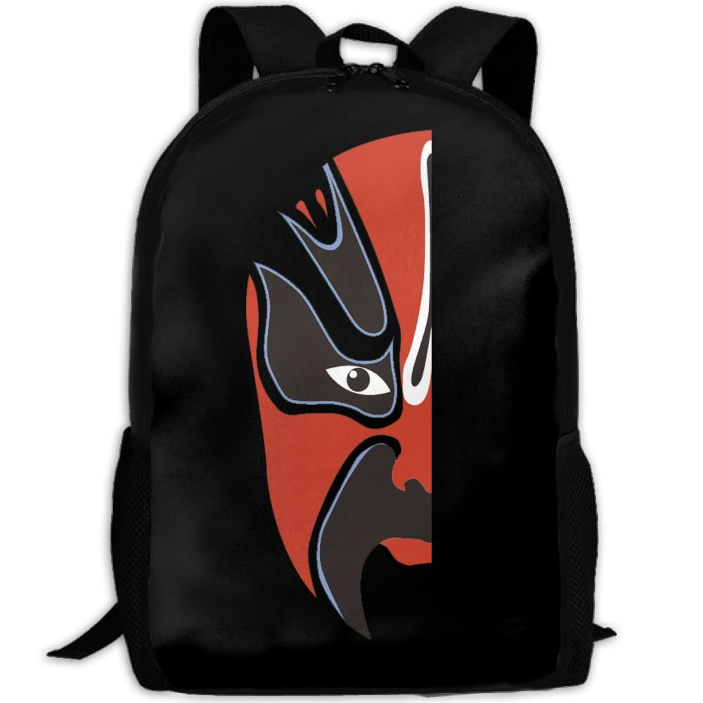 Chinese Opera Man Double Shoulder Backpacks For Adults Traveling Bags Full Print Fashion