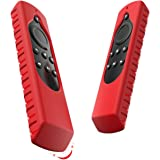Silicone Case for All-New Fire TV 4K/2nd Gen Fire TV Stick/Fire TV Cube Voice Remote, Compatible with Echo/Echo Dot Alexa Voice Remote[Anti Slip] Shock Proof Cover(Red)