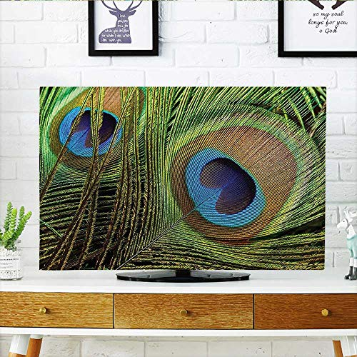- Jiahonghome Protect Your TV Collection Peacock Feather Close Up Design Exotic Plume Royalty and Good Luck Mystic Protect Your TV W35 x H55 INCH/TV 60