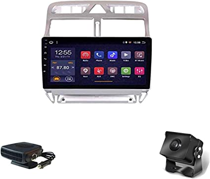 Xmzwd 9 Inch Multimedia Stereo Radio Android 8 1 Touchscreen Gps Navigation System Bluetooth Mirror Link Hands Free Calling For Peugeot 307 2004 2013 Includes Camera Car Heater Küche Haushalt