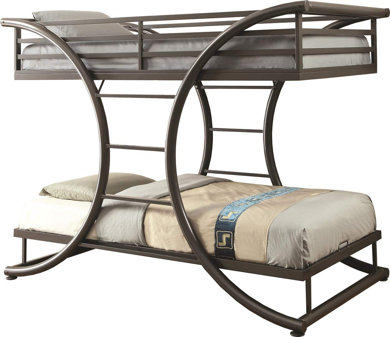 "Coaster Home Furnishings Bunk Bed, 82.25""W x 46""D x 65.25""H, Dark Gunmetal"