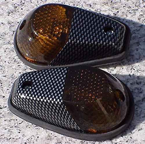 (Carbon/Smoke Flush-Mount Turn Signals for Honda CBR600RR CBR1000RR CBR 600RR 1000RR F3 F4i RR Kawasaki Ninja 250 300 500 ZX6R ZX10R Suzuki GSXR600 GSXR750 GSXR1000 GSXR 600 750 1000 Yamaha)
