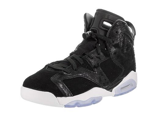 Nike Jordan Kids Air Jordan 6 Retro Prem HC GG Black Black White Gym ... aa577fa1d42db