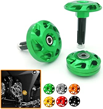 Heinmo Motorcycle Frame Fairing Bolt Hole Cover Cap Plug for Kawasaki Z1000 Ninja 1000 green