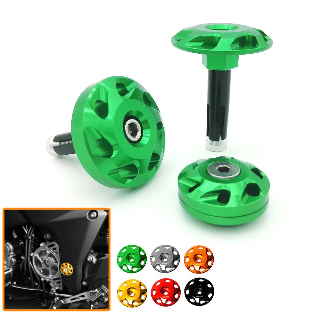 green Heinmo Plus Heinmo Motorcycle Frame Fairing Bolt Hole Cover Cap Plug for Kawasaki Z1000 Ninja 1000