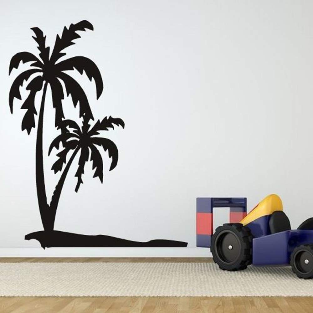 ljradj Playa Tropical Palmera extraíble Pegatinas de Pared para ...
