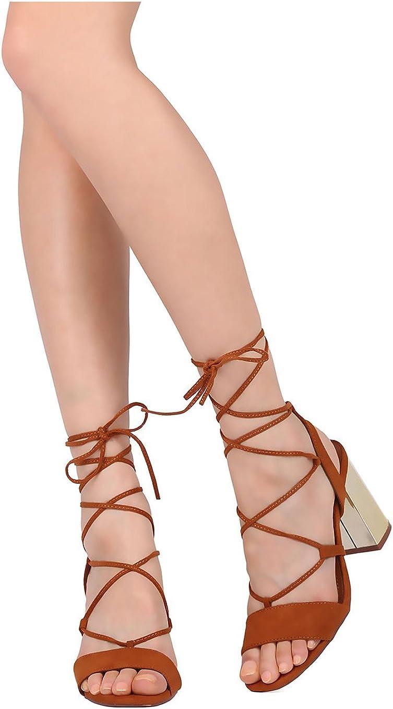 metallic lace up sandals