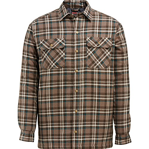 Quilted Plaid Flannel Work Shirt - 7