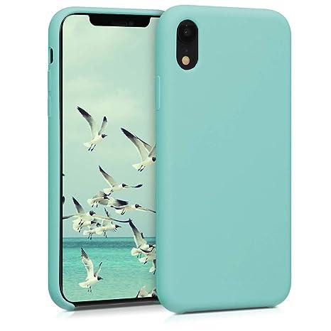 kwmobile Funda para Apple iPhone XR - Carcasa de [TPU] para teléfono móvil - Cover [Trasero] en [Menta]