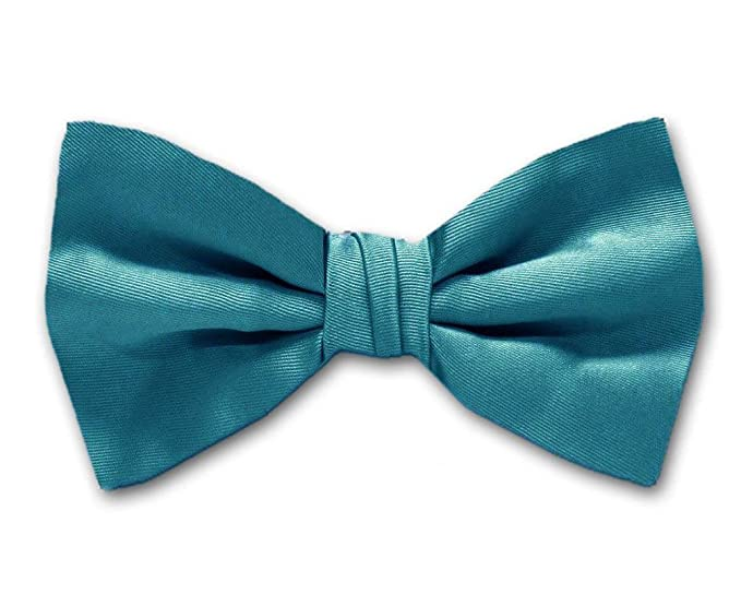 35e44fa2f433 Image Unavailable. Image not available for. Color: Turquoise Solid Color  Self-Tie Bow Tie