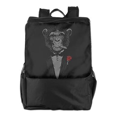 Chimpanzee Boss Cigars Red Rose Printed Girls Backpack Lightweight Casual Shoulder  Bag Boys School Bag Bookbags 3a4743db18266