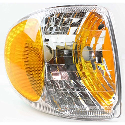 (DAT 98-01 MERCURY MOUNTAINEER FRONT PARKING SIGNAL LIGHT CORNER LAMP LENS AND HOUSING IN THE FENDER RIGHT PASSENGER SIDE FO2521160)