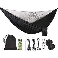 ValueHall Camping Hammock with Mosquito Net Lightweight Double Hammock Portable Hammocks Parachute Nylon Hammock for Indoor,Outdoor, Hiking, Camping, Backpacking, Travel, Backyard, Beach V7079B
