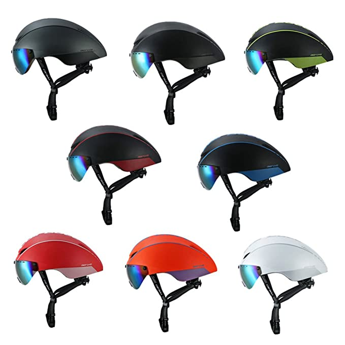 Amazon.com : Cycling Helmet Magnetic Goggles Bike Bicycle Road Mountain Mtb Pneumatic Tt Helmets Casco Ciclismo Cap black and green line : Sports & Outdoors