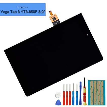 LCD Display Compatible with Lenovo Yoga Tab 3 8.0 YT3-850M YT3-850F LCD Touch Screen Display Digitizer Assembly with Tools