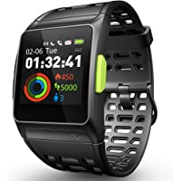GPS Running Watch, ECG Smart Watch HRV Analysis Fatigue/Sleeping/Heart Rate Monitor IP67 Waterproof Fitness Tracker with Multi-Sports Mode Message Notifications Color Touch Screen For Android and IOS