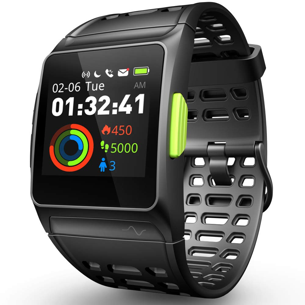 DR.VIVA GPS Running Watch, Smart Watch Heart Rate/Sleep/Pedometer/ECG Monitor Fitness Tracker with Multi-Sports Mode Message Notifications Color Touch Screen Smartwatch for Android and iOS by DR.VIVA