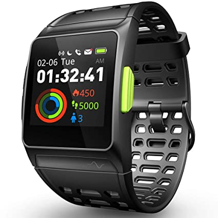 DR.VIVA GPS Running Watch, Smart Watch Heart Rate/Sleep/Pedometer/ECG Monitor Fitness Tracker with Multi-Sports Mode Message Notifications Color Touch ...