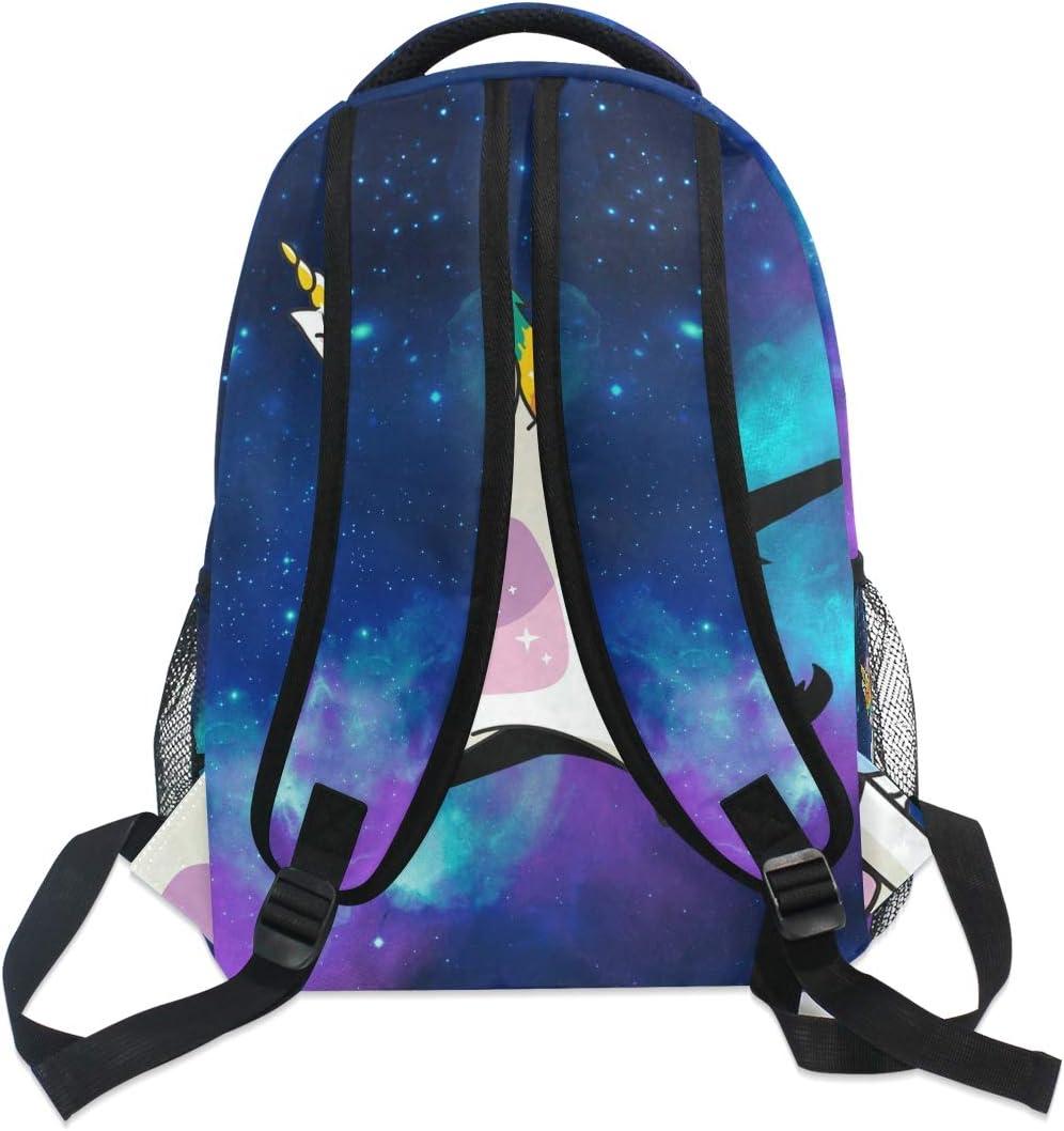 Dabbing Unicorn Mardi Gras Girl Women Galaxy Meteorite Fashion School Backpack Unisex Classic Lightweight Backpack Printing Cute For Boys Girls High School College Schoolbag Sloth