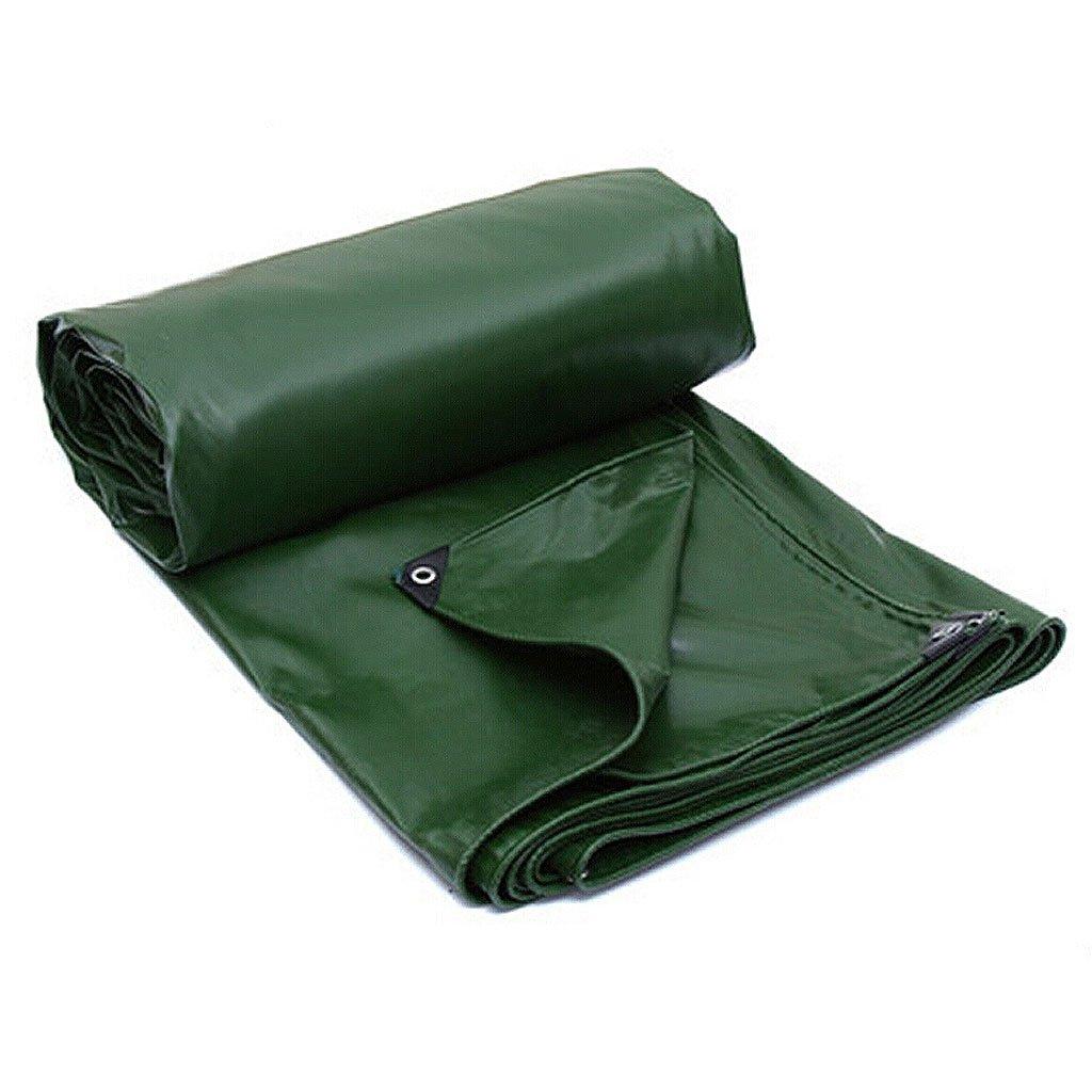 HF 陸軍グリーンカラーPVCプラス厚い雨布防水日焼け防止7種類の倉庫に使用できるサイズは建設トラック工場と企業湾岸桟橋& (サイズ さいず : 6 * 8m) B07FKQ28KW 6*8m  6*8m
