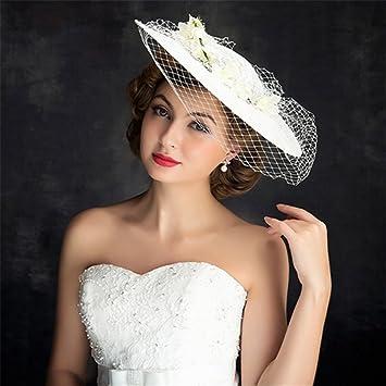 NONGNIML Lace Flax Headpiece-Wedding Special Occasion Retro hand Outdoor  Fascinators Hats 1 Piece  Amazon.co.uk  Sports   Outdoors cd896025aca