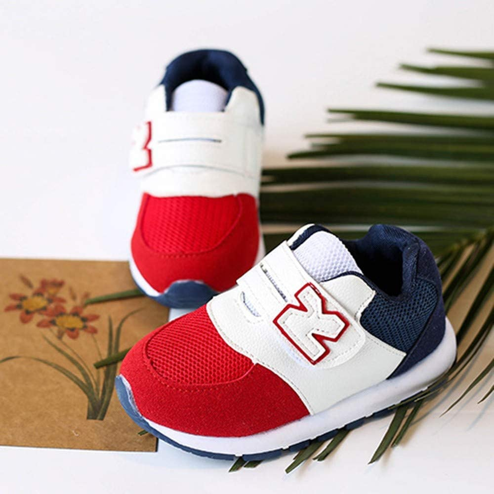 Enfants Infant Kids Lettre Couleurs Maille Mixte Couleurs Courir Sport Chaussures Casual Sneakers Enfant Baskets Xinantime Chaussures B/éb/é