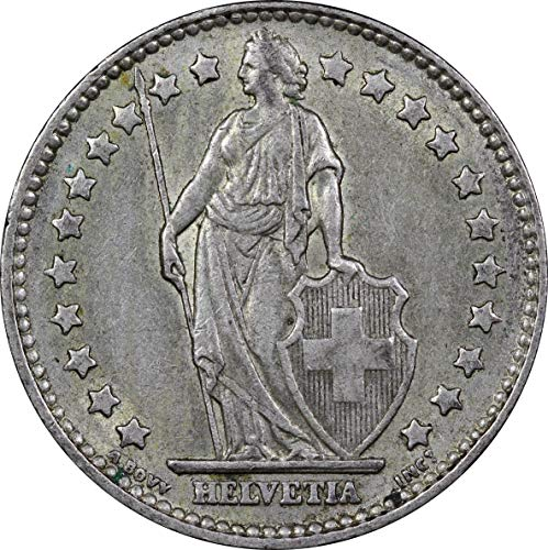 1963 Switzerland Silver 1 Franc Coin, Extremely Fine Condition