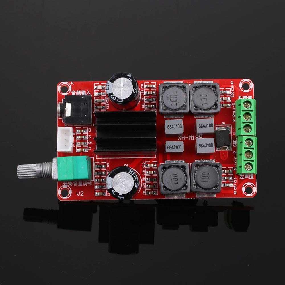 Hanbaili Placa de amplificador digital, 1Pc TPA3116D2 2x50W DC24V Junta de amplificador de audio esté reo de doble canal 1Pc TPA3116D2 2x50W DC24V Junta de amplificador de audio estéreo de doble canal Cewaal
