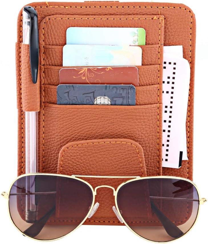 auto auto sonnenblende veranstalter beutel tasche kartenspeicher brillenhalter clip Beige Auto sonnenblende sonnenbrille kartenhalter clip