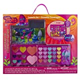 Townley Girl Dreamworks Trolls Cosmetic Set for Girls, Eye Shadow, Blush, Lip Gloss, applicators and mirror