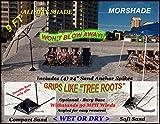 wind vented umbrella - MORSHADE 180 Beach Umbrella 9 Ft | World's Most Secure Wind Resistant & All Day Shade Portable Outdoor Sun Umbrella