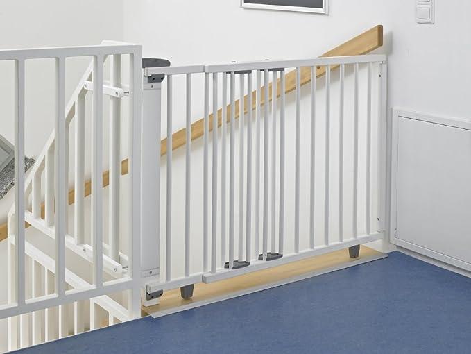 Geuther 2733 WE - Barrera de seguridad con bisagra para puertas, color blanco: Amazon.es: Bebé