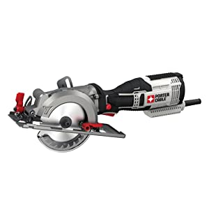 "PORTER-CABLE PCE381K 5.5 Amp 4-1/2"" Compact Circular Saw Kit"