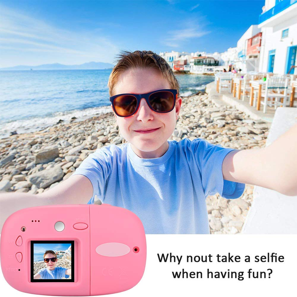 DishKooker 1.44 inch Digital Video Camera for Kids 1080P HD Sports Learn Mini Camera Camcorder for Boys Girls Pink by DishKooker (Image #7)