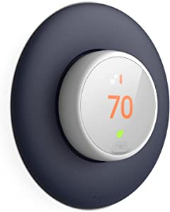 elago Wall Plate Cover Designed for Google Nest Thermostat E Wall Plate (2017)(Jean Indigo) - Compatible with Nest Thermostat E, Hard ABS, Not Compatible with 2020 Models [US Patent Registered]