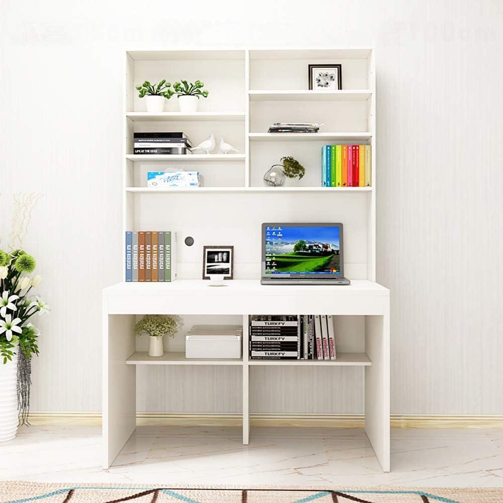 Desk Multipurpose Home Office Computer Desk Bookshelf, Large Writing Table Practical Reading Study Desk Pc Laptop-a 100x110cm/39x43in