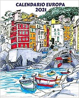 Calendario Bellissime 2021 Calendario Europa 2021: Calendario mensile 2021 con schizzi ad
