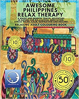 RELAXING Adult Colouring Book Awesome Philippines Relax Therapy