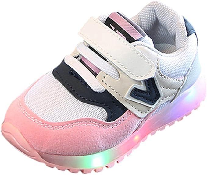 YanHoo Zapatillas Deportivas Transpirables Antideslizantes Zapatillas Deportivas para niños y niñas Zapatillas Deportivas Zapatillas de Deporte de Malla Luminous para niños pequeños bebés: Amazon.es: Ropa y accesorios