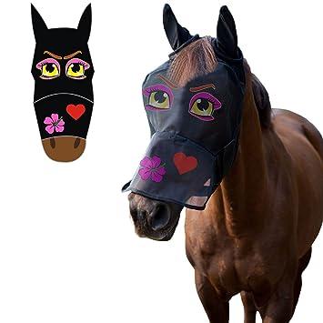 LTG PRO® Máscara de caballo Pony CobFly visera visera de cara completa con dibujos animados