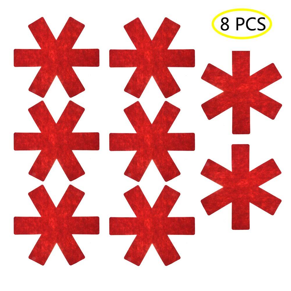 jincome Protezioni per pentole e padelle, pentole antiscivolo e divisori per divisori / divisori per padella, mantenere gli utensili da cucina privi di graffi o abrasioni, evitare graffi, diametro di 38 cm e spessore di 0,3 cm (8 pezzi) (red)